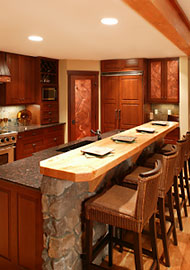 Rustic Kitchen with Tubular Skylights
