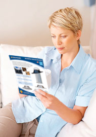 Women Reading Natural Light Brochure